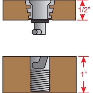 Floor Anchors - 1/2