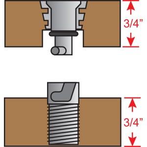 Floor Anchors -3/4