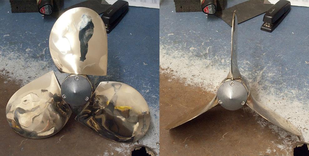 Max-Prop tripales après réparation