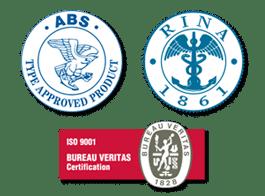 certification ABS, RINA et Bureau Véritas