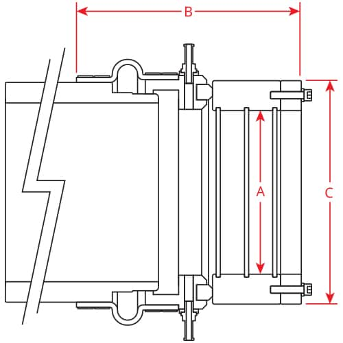 PSS Type C Seal Weld on Stern Tube Model dimensions
