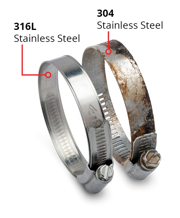316L stainless steel Hose Clamps