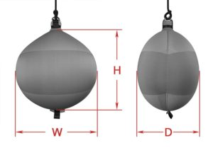 Cylindrical Fenders Dimensions